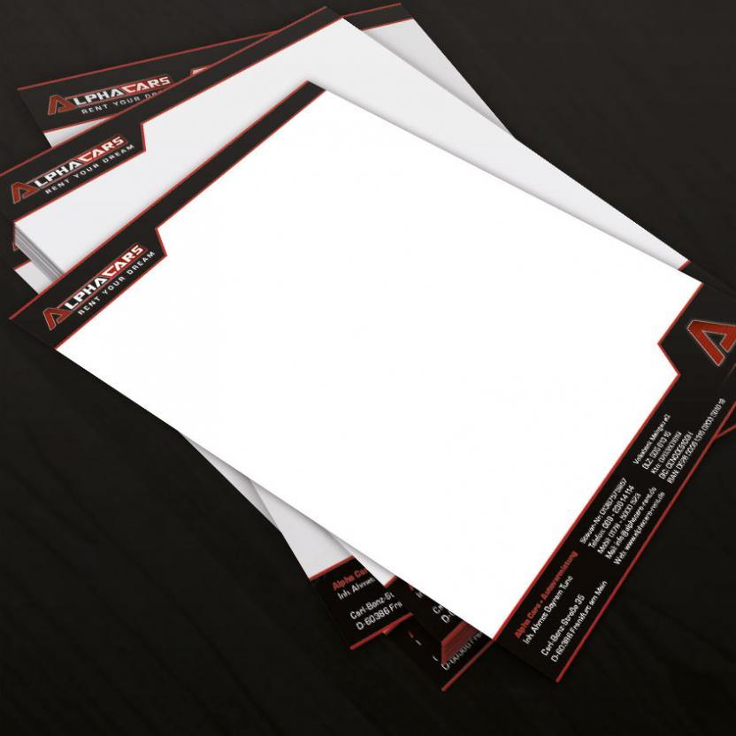 Briefpapier Alphacars