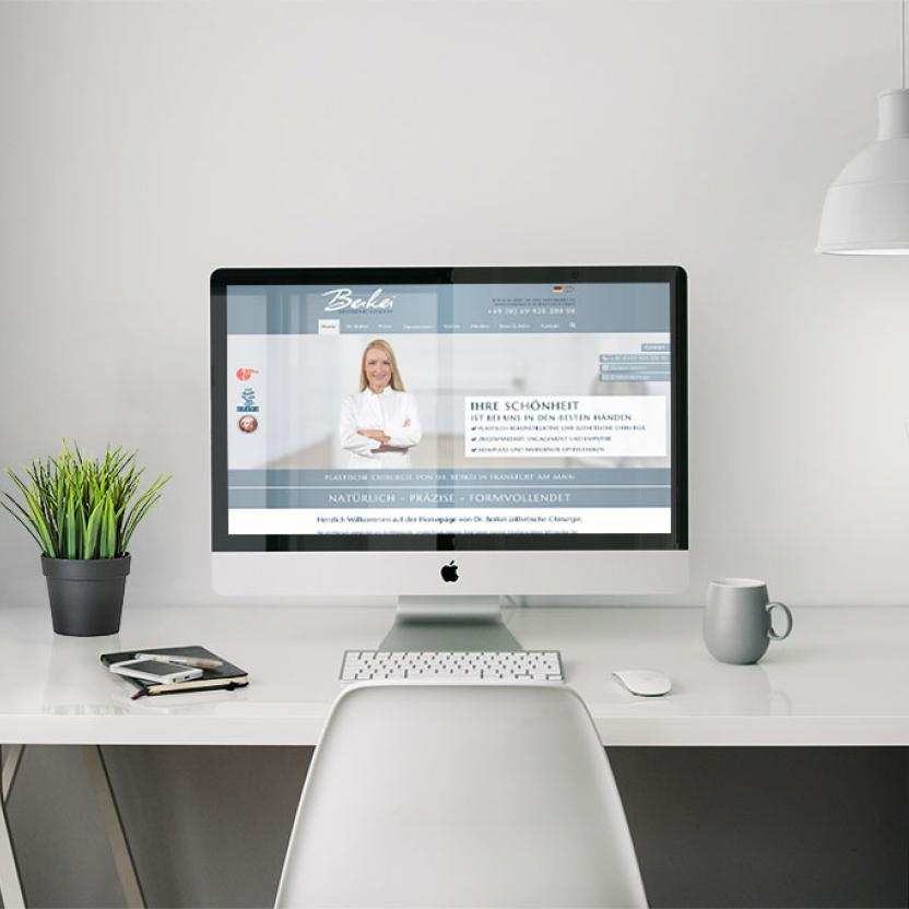 Website Berkei Chirurgie Desktop