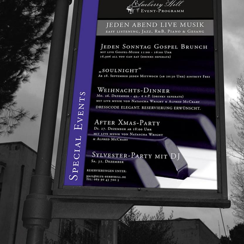 Event-Plakat Blueberry Hill