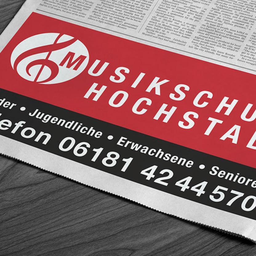 Musikschule Hochstadt Anzeige