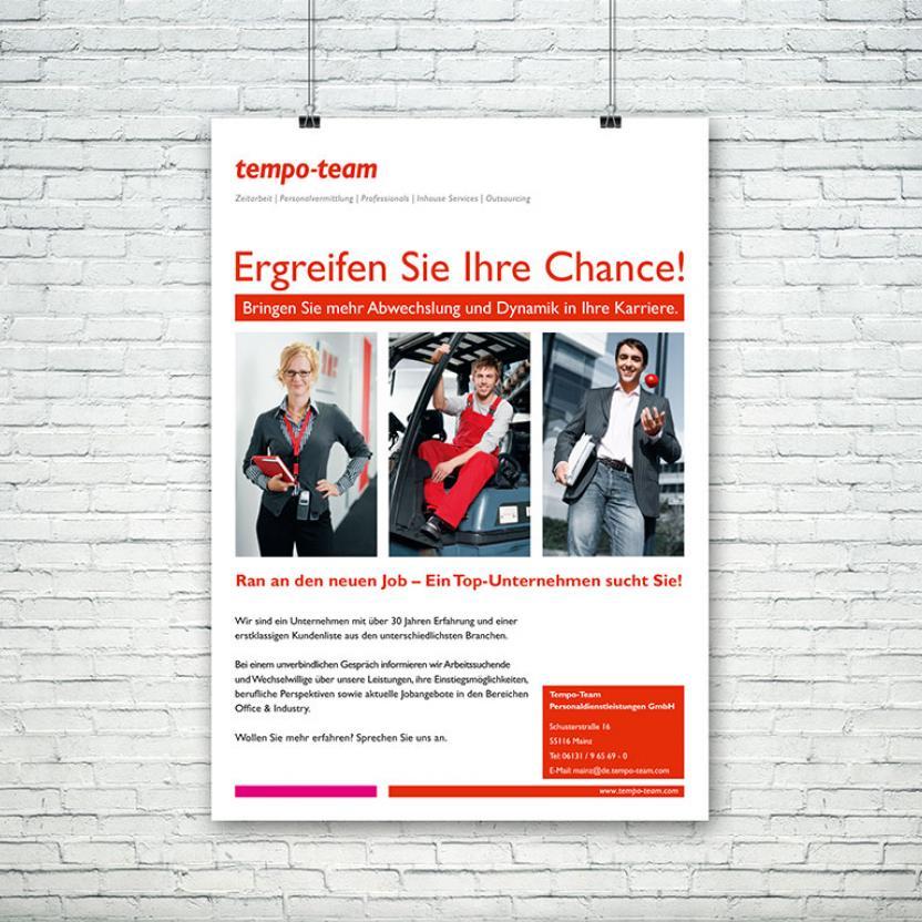 tempo-team Plakat