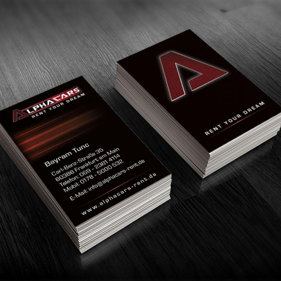 Visitenkarten Alphacars