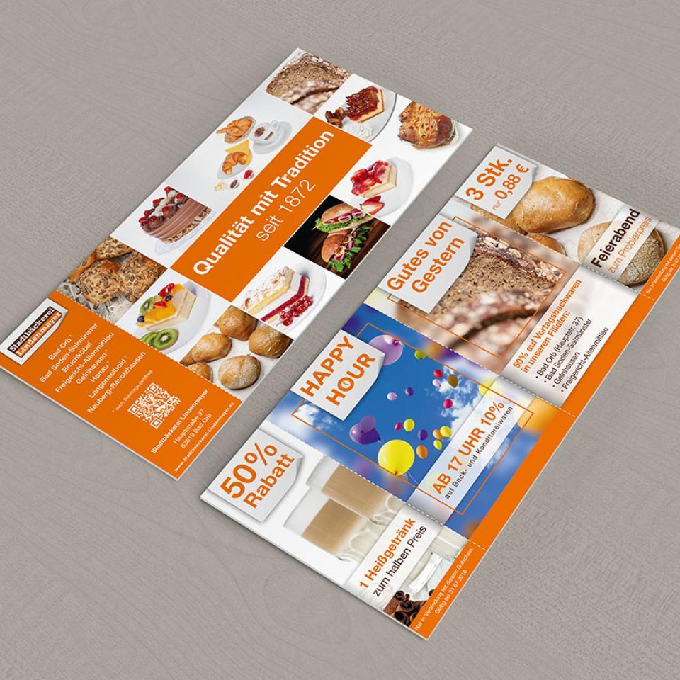 Stadtbäckerei Lindenmayer Happy Hour Flyer