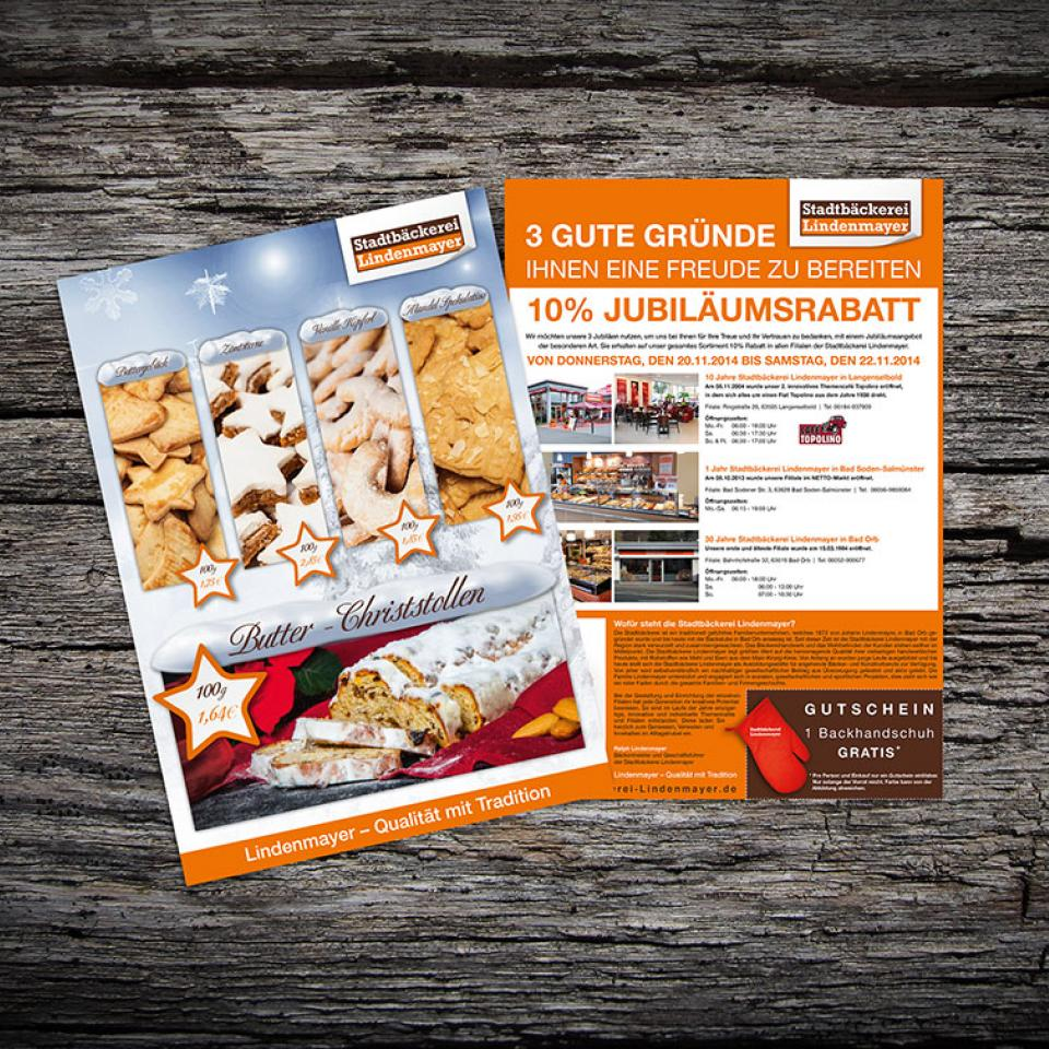 Stadtbäckerei Lindenmayer Weihnachts-Flyer