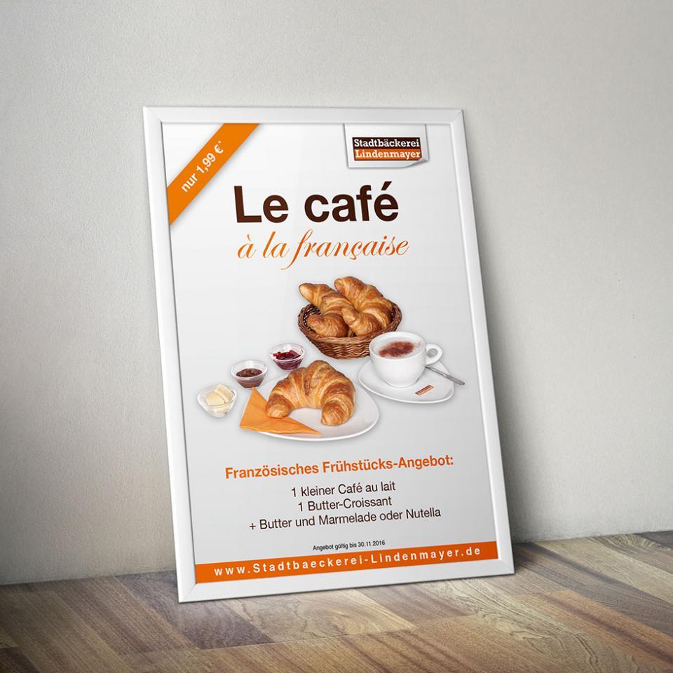 Stadtbäckerei Lindenmayer le café Plakat