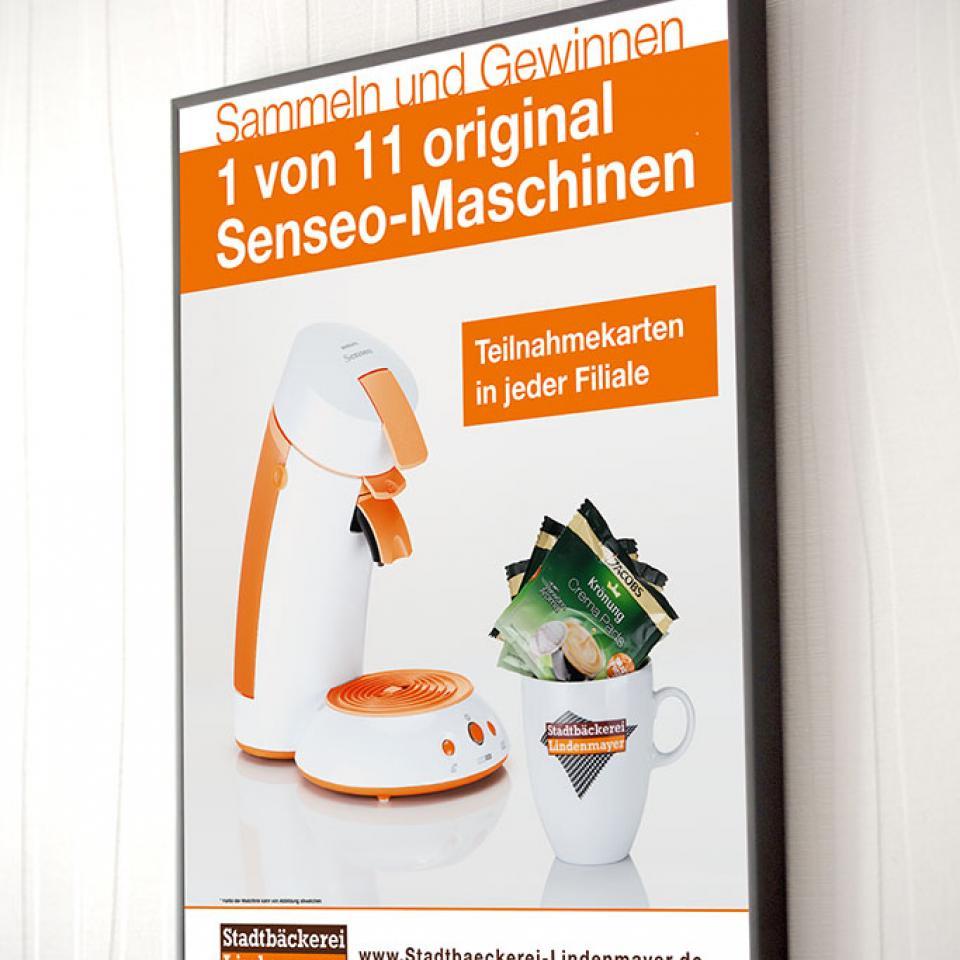 Stadtbäckerei Lindenmayer Plakat Gewinnspiel