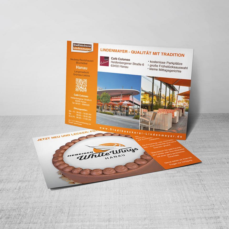 Stadtbäckerei Lindenmayer Postkarte Motivtorten