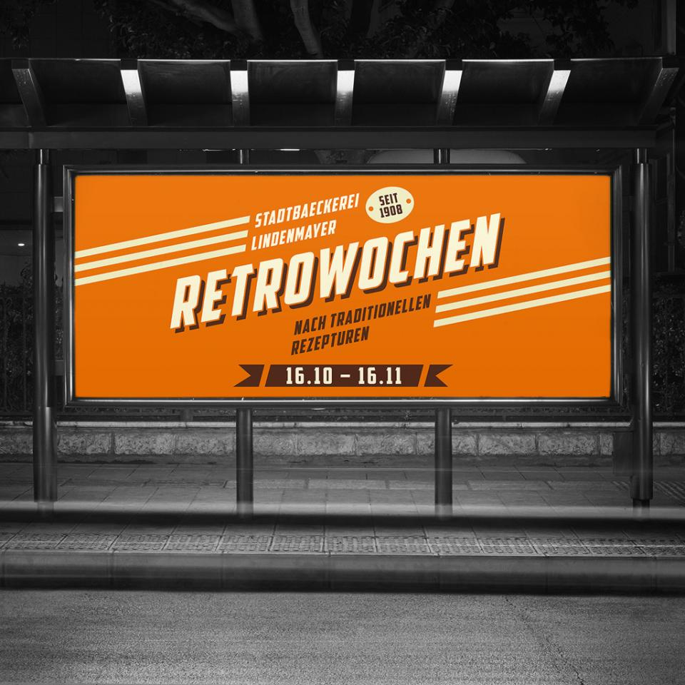 Retro-Wochen bei Stadtbäckerei Lindenmayer <br> Image- und Sales-Kampagne