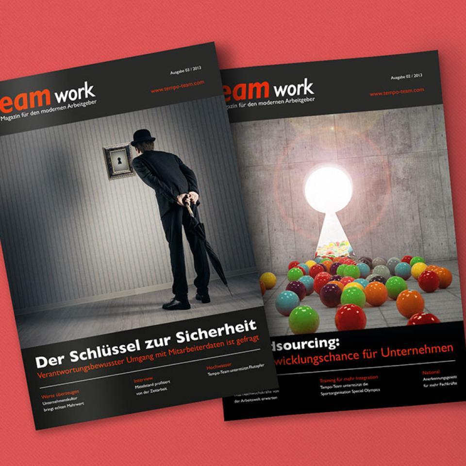 tempo-team TEAMwork Kundenmagazin