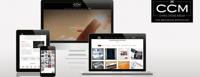 Chris Cross Media Werbeagentur in neuem Design