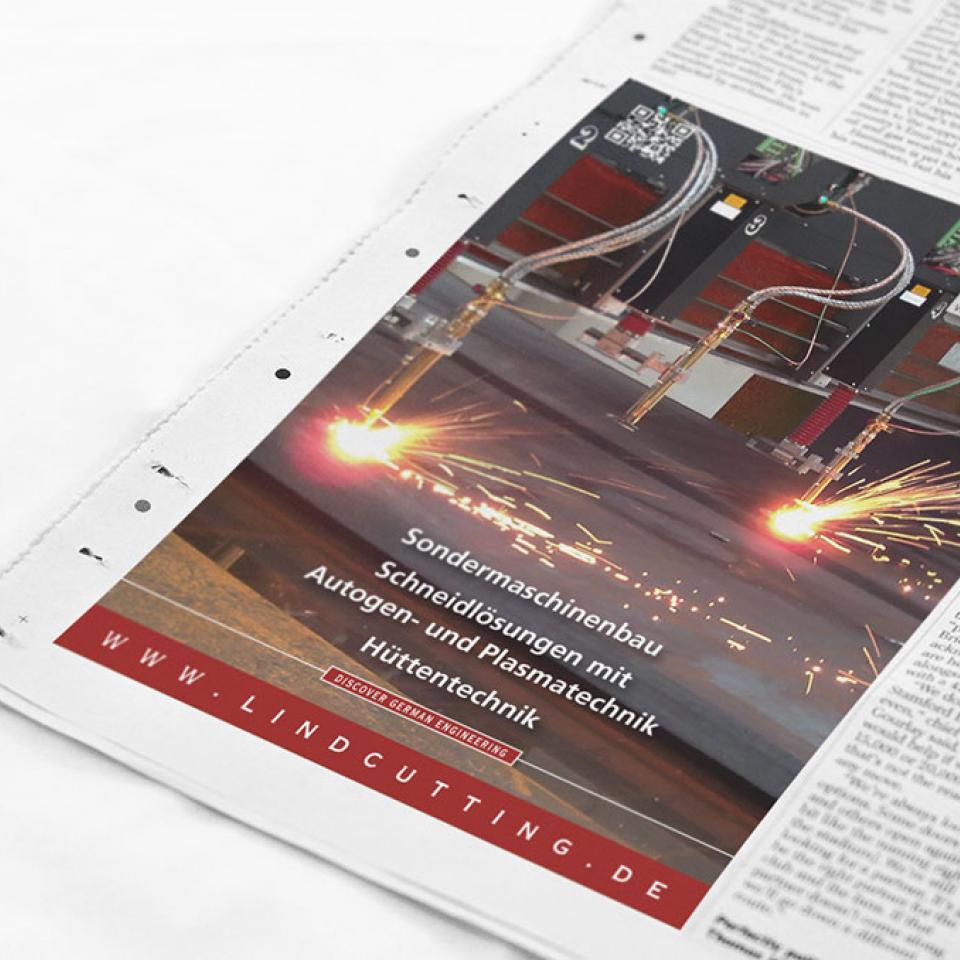 Lind GmbH – Worldwide cutting solutions <br> Re-Branding und Image-Kampagne