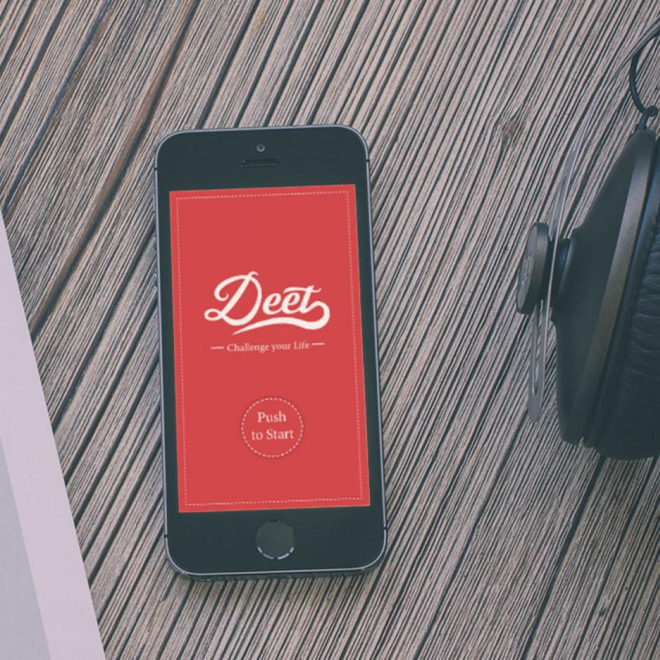 App Deet, Challenge your Life <br> Start-up Kampagne