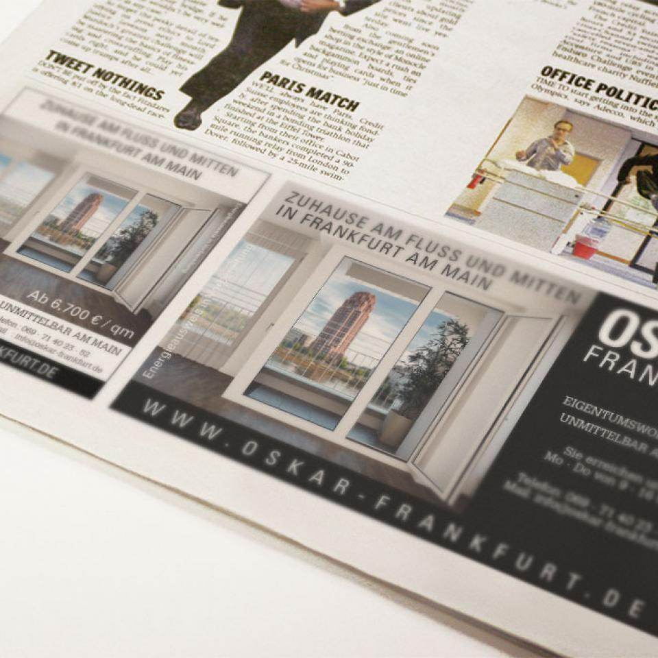OSKAR Projekt, Frankfurt <br> Image & Branding-Kampagne