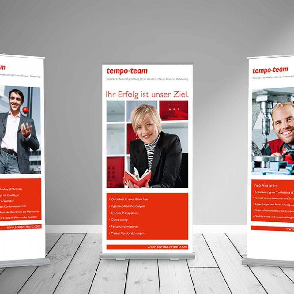 Re-Branding für tempo-team Deutschland <br> Re-Design und Image-Kampagne