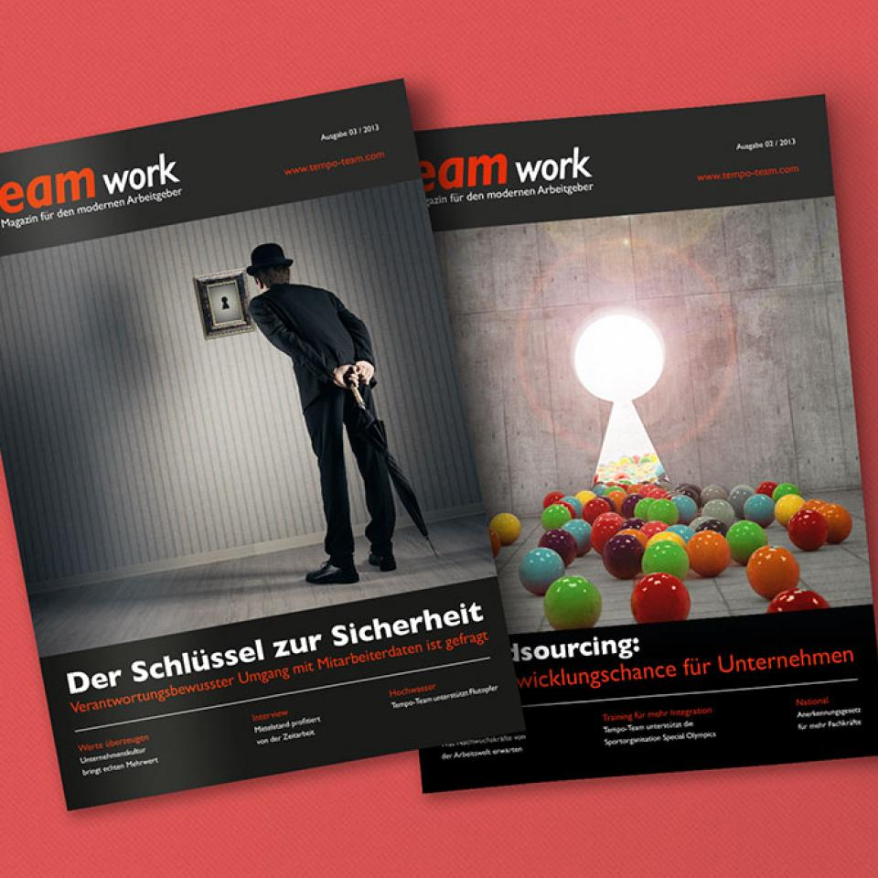 TEAMwork Kundenmagazin TEAMwork von tempo-team <br> Image & Communication-Kampagne
